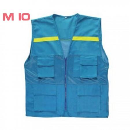 Áo ghi lê phản quang màu xanh M10