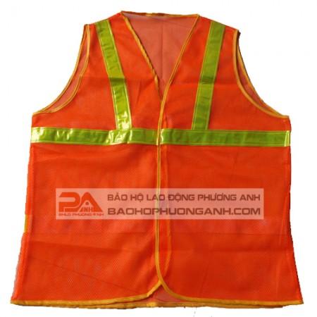 Áo lưới bảo hộ lao động màu cam