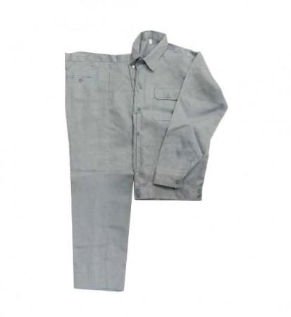 Bộ quần áo công nhân màu ghi vải kaki