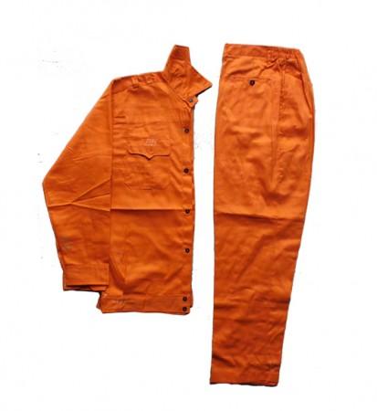 Bộ quần áo bảo hộ công nhân màu cam
