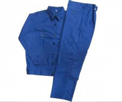 Quần áo công nhân màu xanh dương